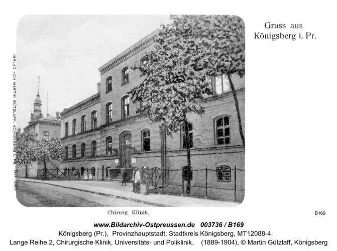 Königsberg, Chirurgische Klinik