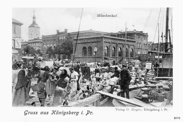 Königsberg, Münchenhofplatz, Städtisches Realgymnasium
