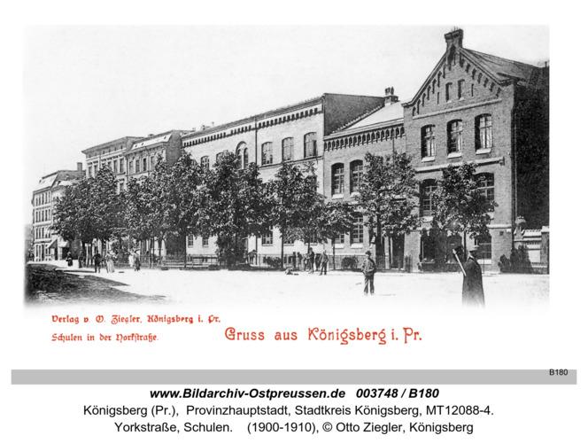Königsberg, Schulen in der Yorkstraße