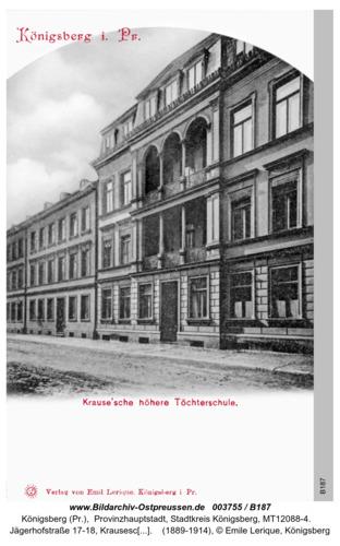 Königsberg, Krausesche höhere Töchterschule