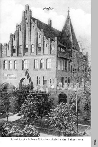 Königsberg, Bahnstr., Szitnicksche höhere Mädchenschule