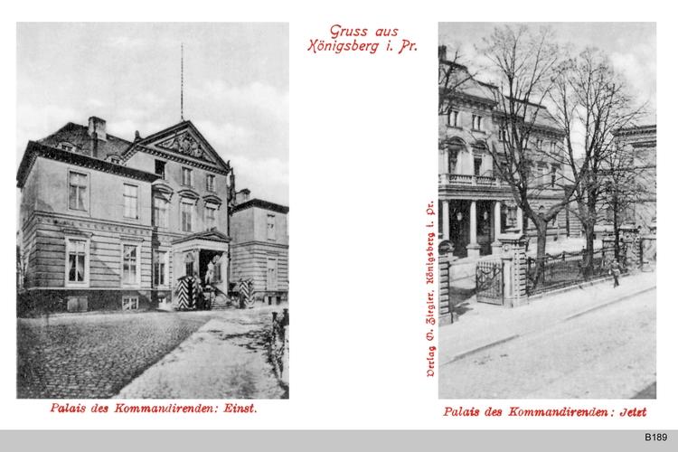Königsberg, Palais des Kommandierenden