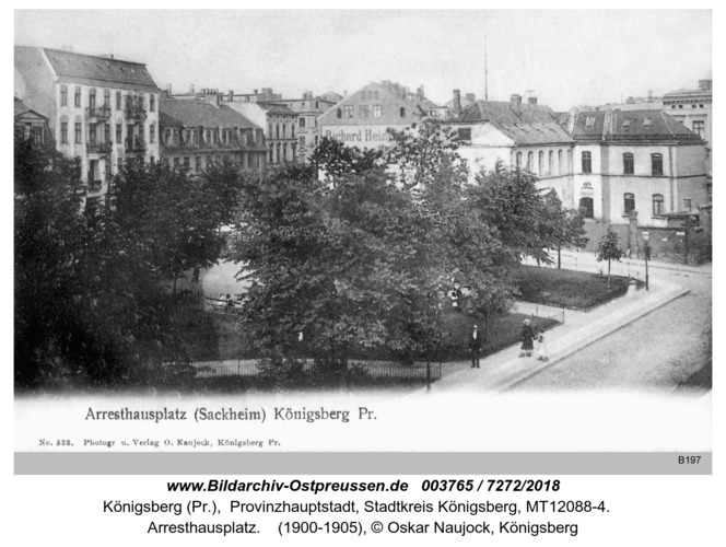 Königsberg, Arresthausplatz