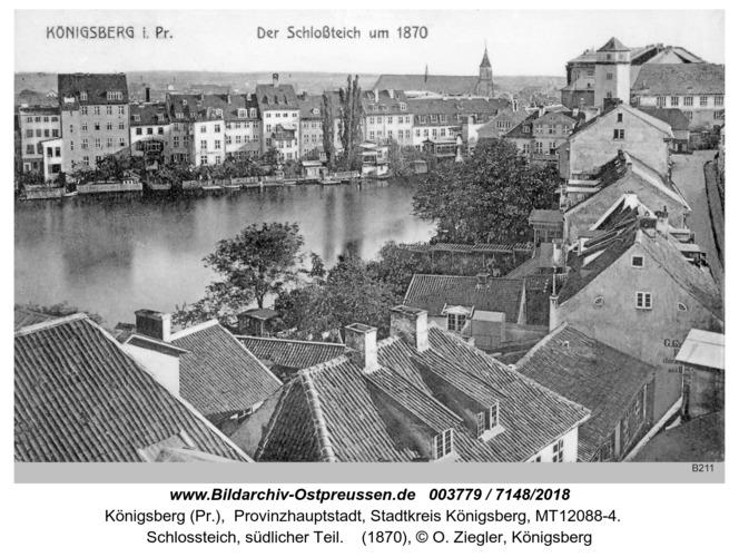 Königsberg, Schloßteich 1870
