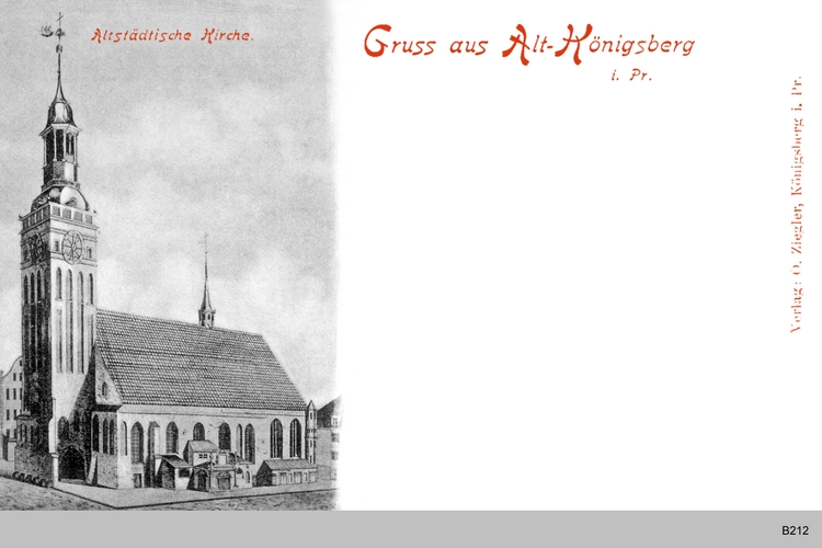 Königsberg, die alte Altstädtische Kirche St. Nikolaus