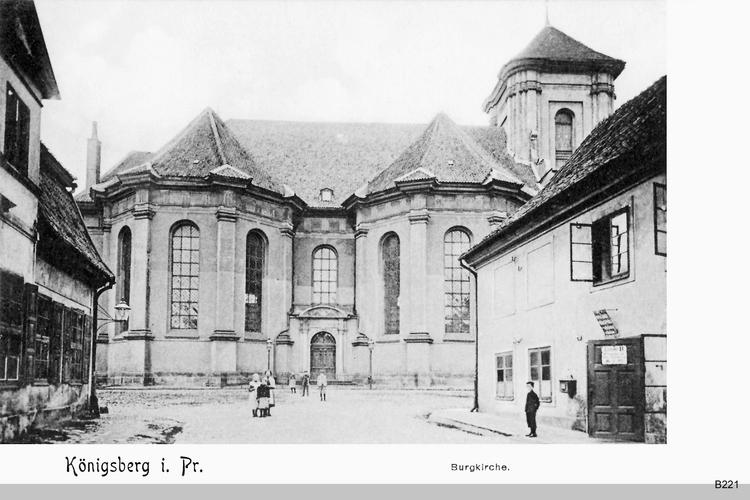 Königsberg, Burgkirche, Alte Häuser