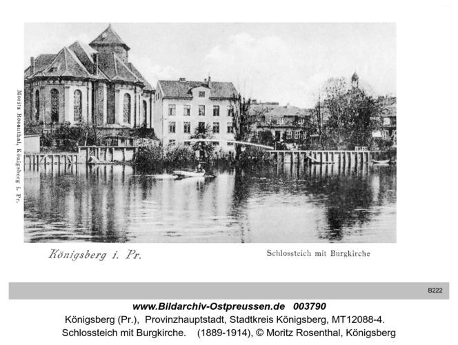 Königsberg, Schloßteich mit Burgkirche