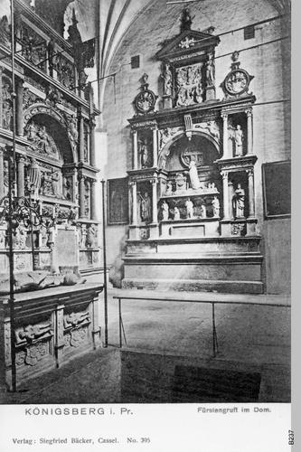 Königsberg, Fürstengruft im Dom