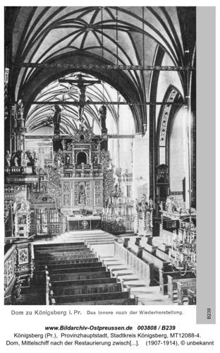 Königsberg, Dom Innenaufnahme nach Restaurierung