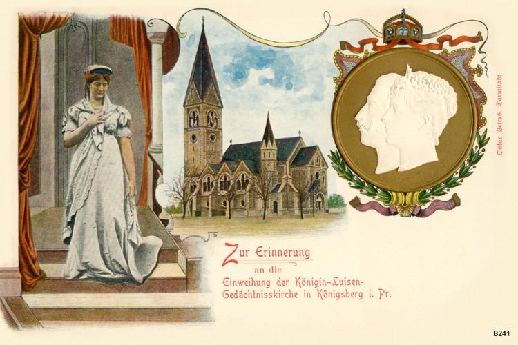 Königsberg, Luisenkirche coloriert