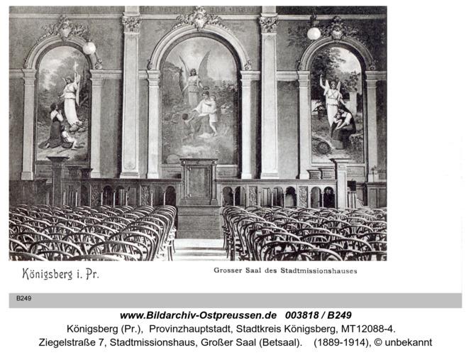 Königsberg, Stadtmissionshaus, Großer Saal