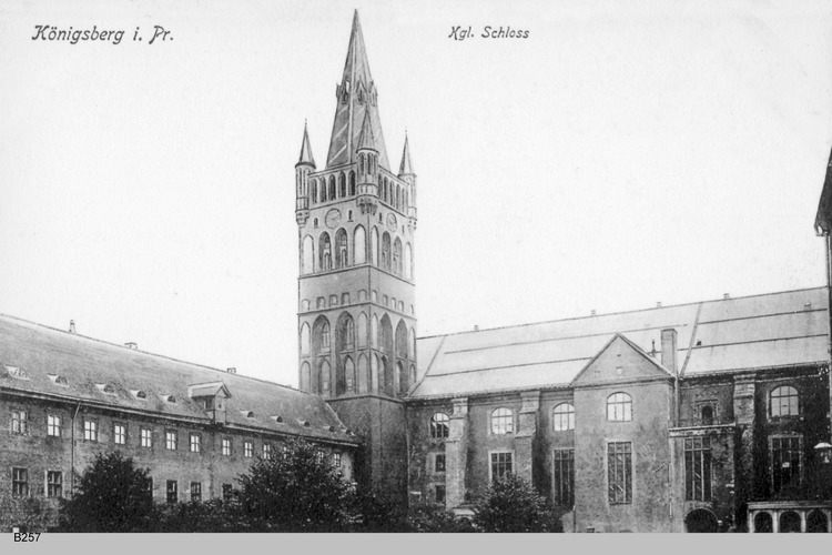 Königsberg, Innerer Schloßhof mit Schloßkirche