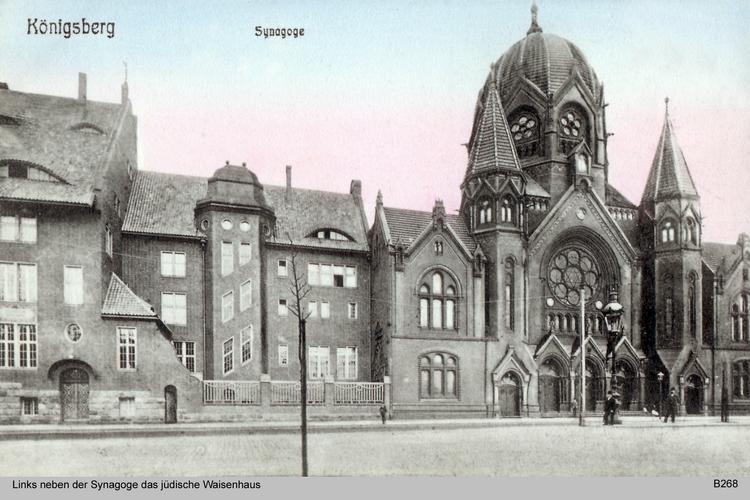Königsberg, Synagoge mit jüdischem Waisenhaus