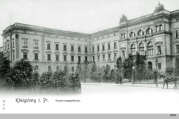 Königsberg, Regierungsgebäude