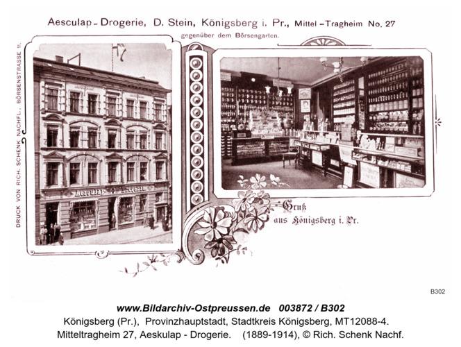 Königsberg, Aeskulap - Drogerie, Mitteltragheim