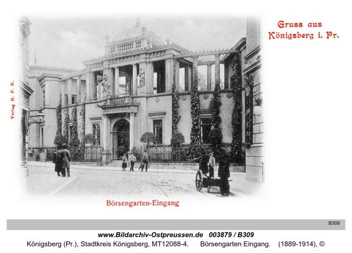Königsberg, Börsengarten Eingang
