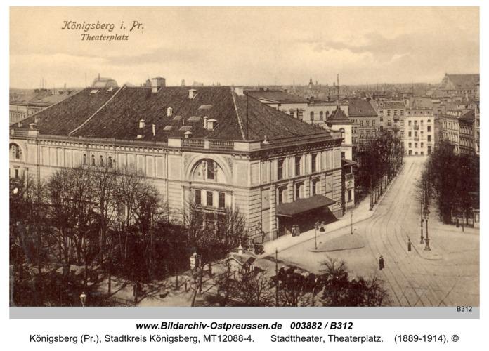 Königsberg, Stadttheater, Theaterplatz