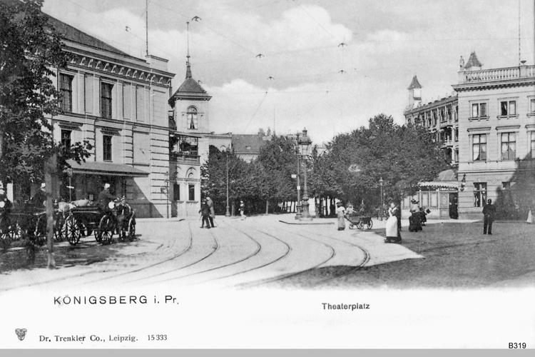 Königsberg, Theaterplatz und Stadttheater
