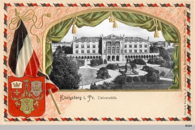 Königsberg, Universität coloriert