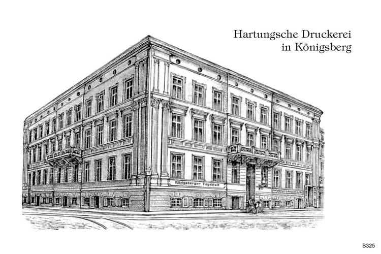 Königsberg, Hartung Druckerei