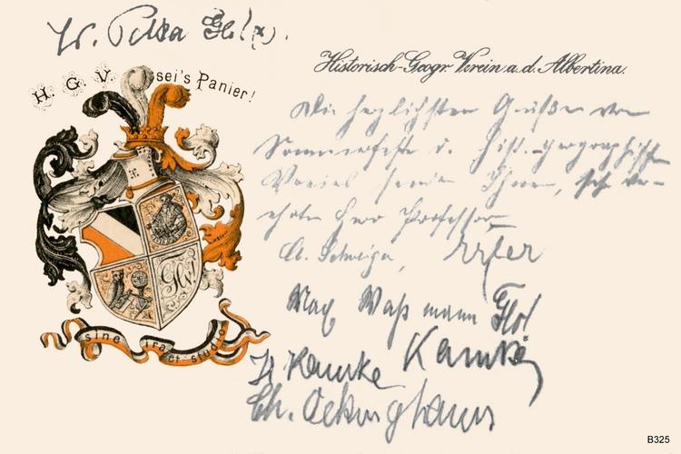 Königsberg, Historisch Geographischer Verein an der Albertina