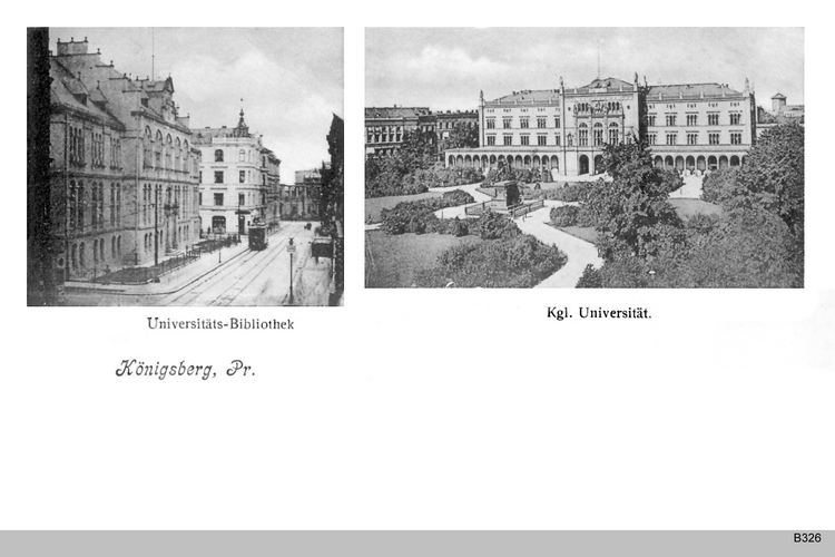 Königsberg, Universität und Universitätsbibliothek