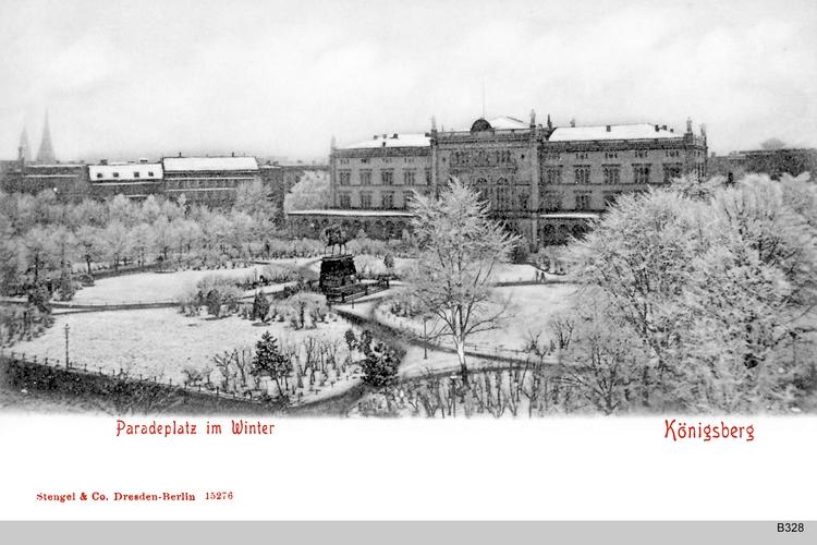 Königsberg, Universität im Winter