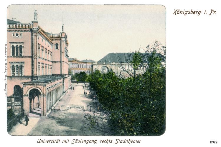 Königsberg, Universität mit Säulengang