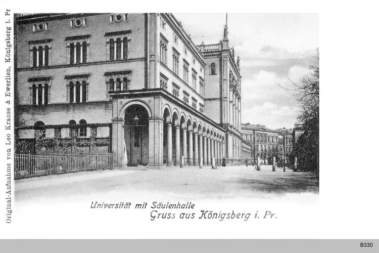 Königsberg, Universität mit Säulenhalle