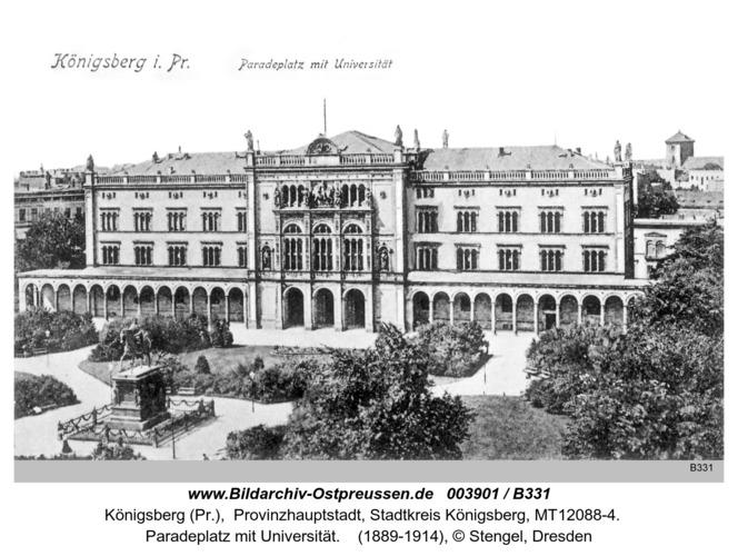 Königsberg, Paradeplatz mit Universität