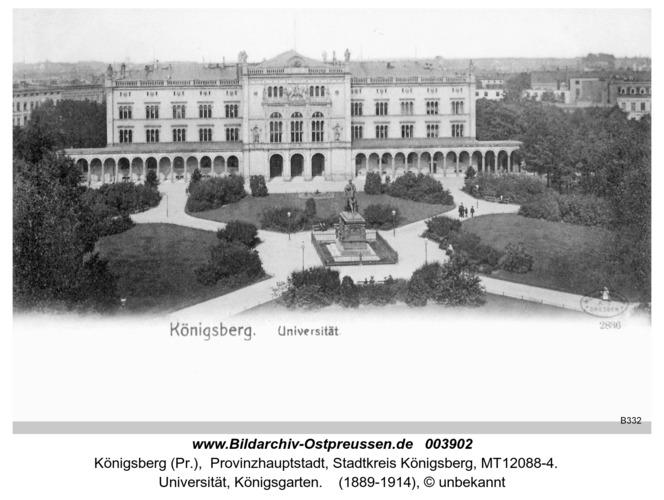 Königsberg, Universität, Königsgarten