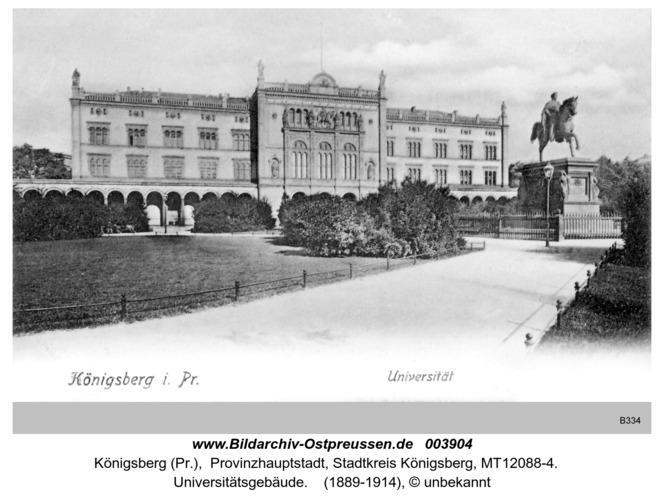 Königsberg, Universitätsgebäude