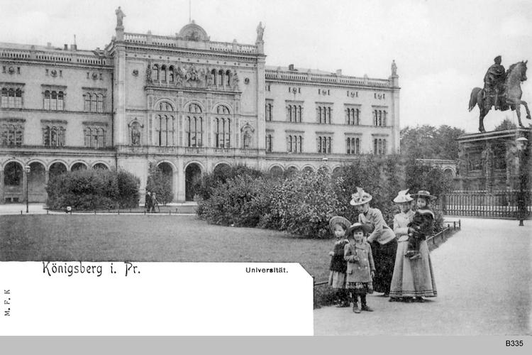Königsberg, Universitätsgebäude, Personengruppe