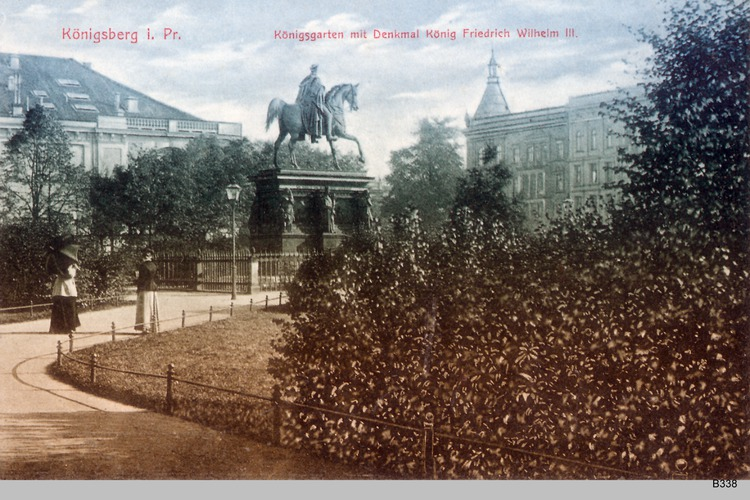Königsberg, Königsgarten, Friedrich Wilhelm III Denkmal