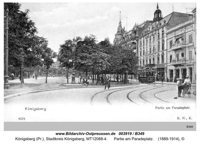 Königsberg, Partie am Paradeplatz