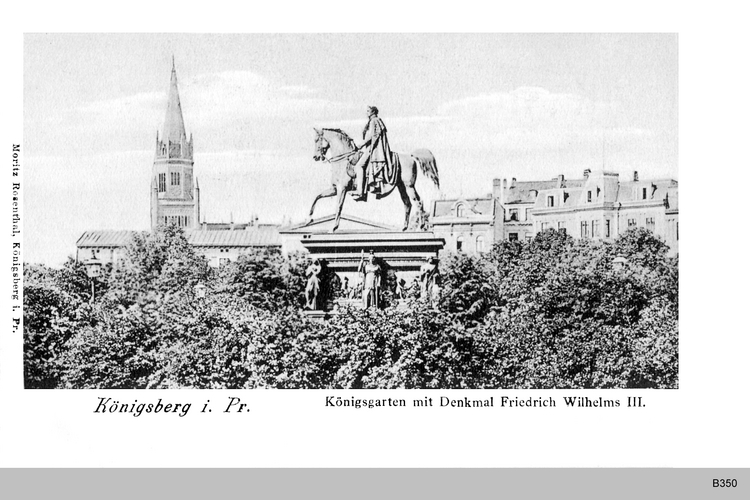 Königsberg, Denkmal im Königsgarten