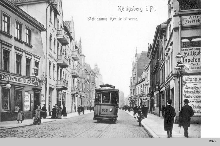 Königsberg, Steindamm Rechte Straße