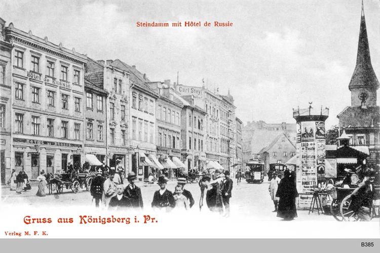 Königsberg, Steindamm Hotel de Russie