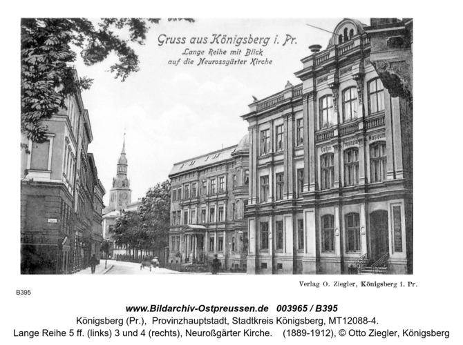 Königsberg, Lange Reihe, Neuroßgärter Kirche