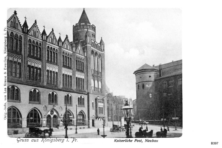 Königsberg, Kaiserliche Post