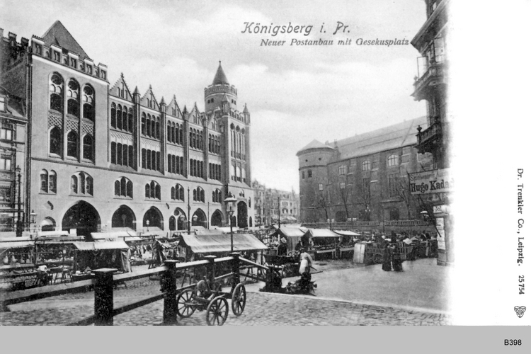 Königsberg, Post Gesekusplatz