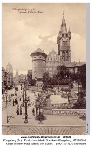 Königsberg, Kaiser Wilhelm Platz Gesamtansicht