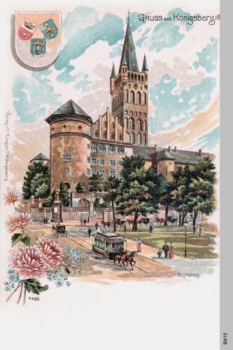 Königsberg, Schloß gemalt