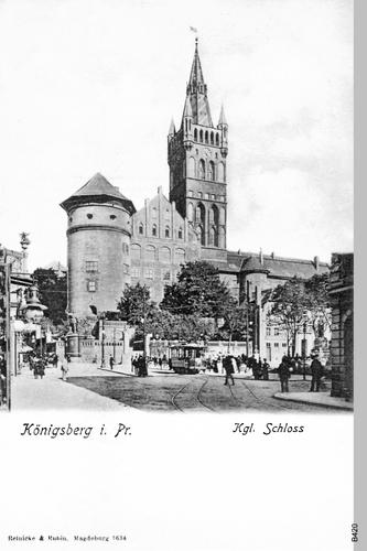 Königsberg, Kaiser-Wilhelm-Platz, Schloß von Süden