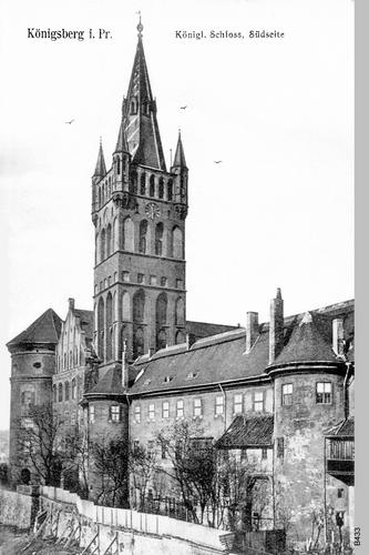 Königsberg, Schloß von Süden