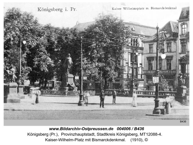 Königsberg, Bismarckdenkmal am Kaiser Wilhelm Platz