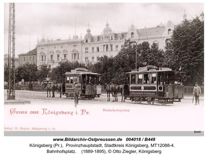 Königsberg, Bahnhofsplatz