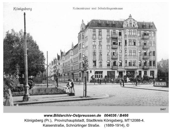 Königsberg, Kaiserstraße, Schnürlinger Straße