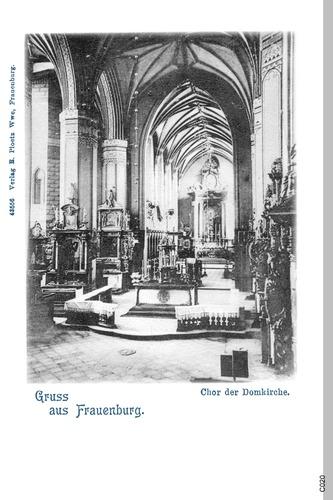 Frauenburg, Dom, Innenansicht, Blick zum Altar