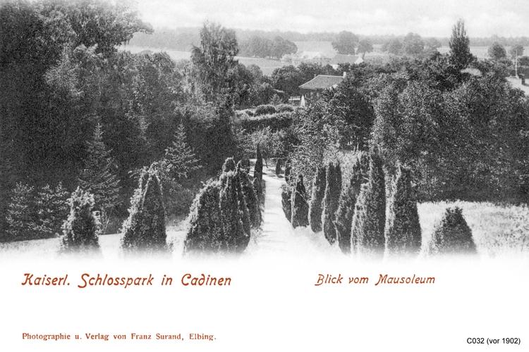 Cadinen, Kaiserlicher Schlosspark